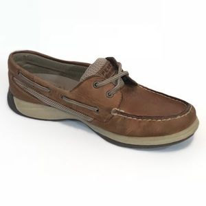 Sperry Tan Leather Top-Siders Size 7 Slip On